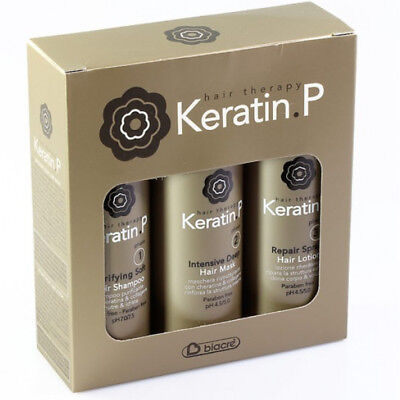 Keratin.P Biacrè Travel Kit ® Repair Spray 100ml + Shampoo 100ml + Mask 100ml
