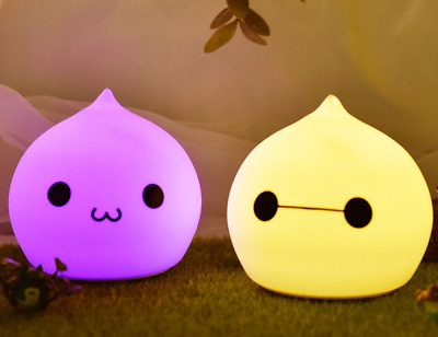 Water drop 7 color changeable rechargeable silicone night light Christmas gift