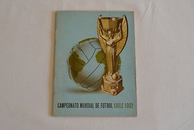 1962 FIFA World Cup Chile Tournament Programme Excellent Condition