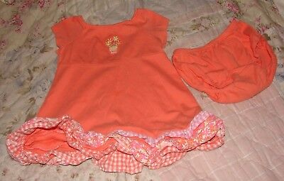 Gymboree Infant Girls 12 To 18 Months Adorable Ruffled Dress & Bloomers Set