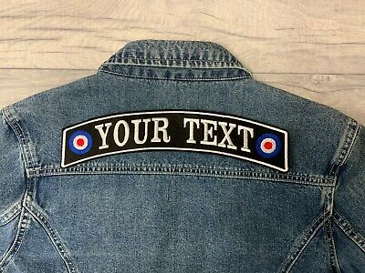 "11.5"" Top Mod Rocker Patch Biker Scooter Personalised Sew On Buy 5 Pay For 4!!"