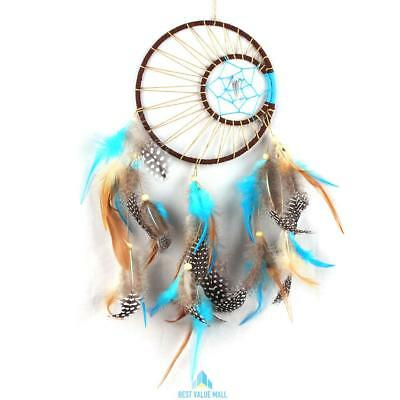 Handmade Dream Catcher Round Feather Native American Indian Style Decoration UK