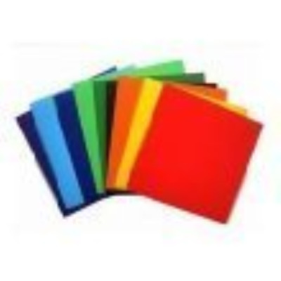 Gummed Paper Squares - 100 Assorted Colours