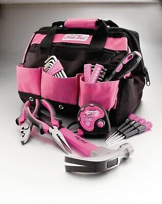 NEW 30 pc Ladies Pink Tool Toolbox Set Kit Household Womens Womans Tools Home