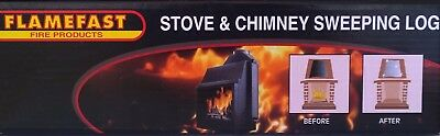 Chimney Stove Cleaning Sweeping Log Flamefast Helps To Remove Creosote