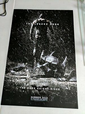 The Dark Knight Rises Movie Poster 11x17 ORIGINAL from WB booth at Comic Con.