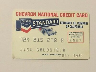Vintage 1971 Chevron Standard Oil Company Gas Credit Charge Card X1