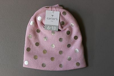 Carter s Baby Knit Metallic Dot Hat   Mitten Set - 6-18 Months - Pink 1b2da9531ae6