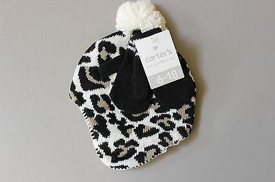 Carter s Baby Knit Cheetah Hat   Mitten Set - 6-18 Months - Black Leopard ed7c8f225736