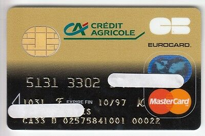 Carte / Card  Banque Bank Credit .. Ancienne Old Cb De La Rue Cp8 Perimee Puce