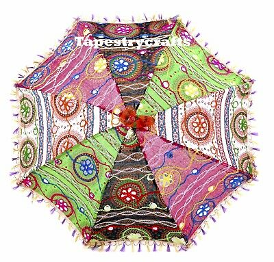 Amazing Mini Umbrellas Ethnic Handcraft Embroidery Multi Color Sun Shade Parasol