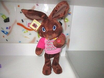 "Chantilly Lane Musicals 14"" Chocolate Bunny James Brown I Feel Good Tag  #D2"