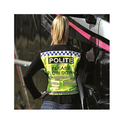 Equisafety Unisex POLITE Air Waistcoat Please Slow Down