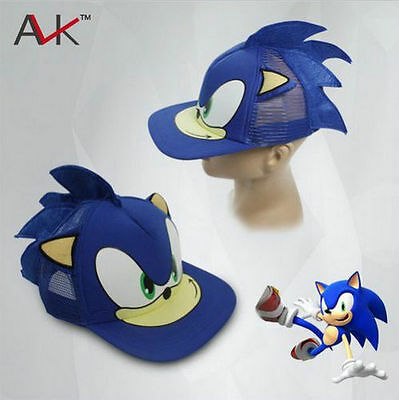 1x Sonic Hedgehog Sonic Beanie Cosplay Costumes peaked Kid Cap Hat Birthday Gift