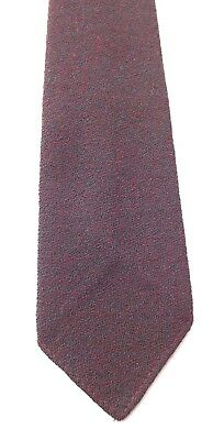 Vintage 1960s GRENVILLE Pure Wool Neck Tie Dark Green and Claret Weave FREE P&P