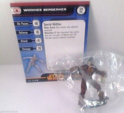 Star Wars Revenge of the Sith 22/60 Wookie Berserker (C) Miniature