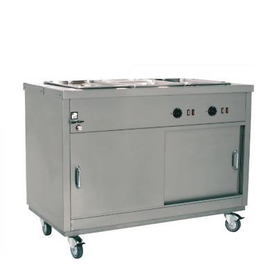Parry Commercial Hot Cupboard with Bain Marie Top 3x1/1 GN 1200Wx650Dx900Hmm