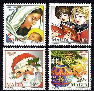 Malta 1999 Christmas Complete Set SG 1152 - 5 Unmounted Mint