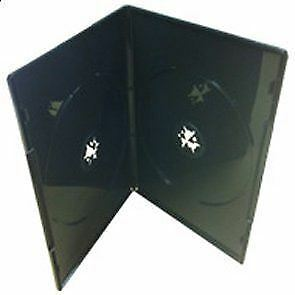 DVD Case 7mm Double Black - 25 included