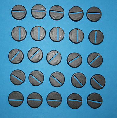 50 (Fifty) 20mm Round Slotta Bases for Wargaming and Roleplaying New
