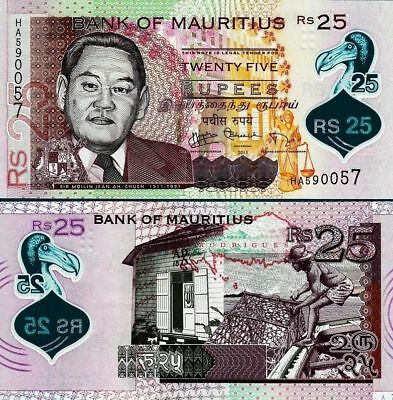 Mauritius 25 Rupees 2013 Unc P-64 Polymer