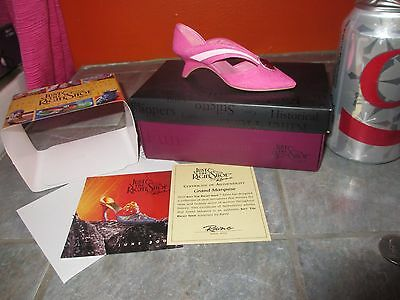 JUST THE RIGHT SHOE ' Grand Marquise  ' MINIATURE SHOE Figurine with COA & BOX