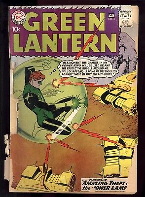 Green Lantern (1960) #3 1st Print Gil Kane Cover & Art Cover Brittle Chipping FR