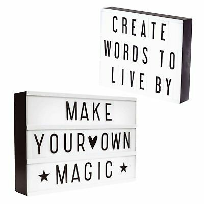 A4 A5 Light Up Cinematic Letter Box Sign Home Wedding Party Xmas Shop Decor