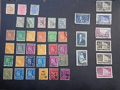 Selection of Finland stamps. Early issues to 1950