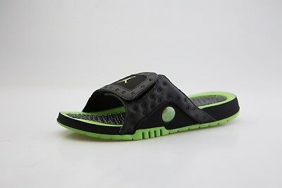 c20d4675548 684915-025 MEN JORDAN Hydro XIII 13 Retro Slide Black Altitude Green ...