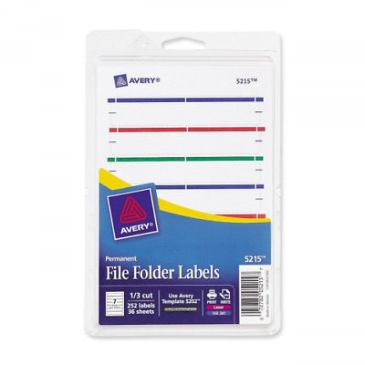 Avery Print or Write File Folder Labels for Laser and Inkjet Printers, 1/3 Cut,