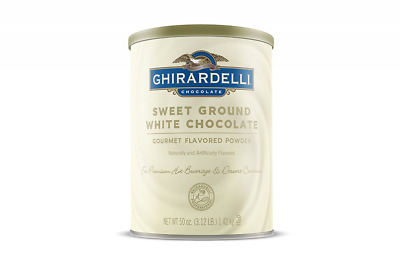 Ghirardelli Chocolate Sweet Ground White Chocolate Flavor Beverage Mix, 50-Ounce