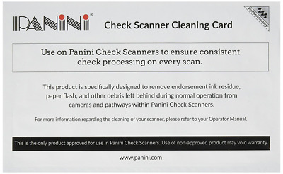 Panini Check Scanner Cleaning Cards featuring Waffletechnology (15 cards)