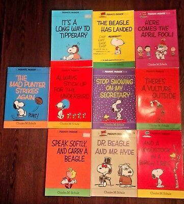 Lot of 10 Peanuts Parade Books by Charles Schulz Snoopy/Charlie Brown