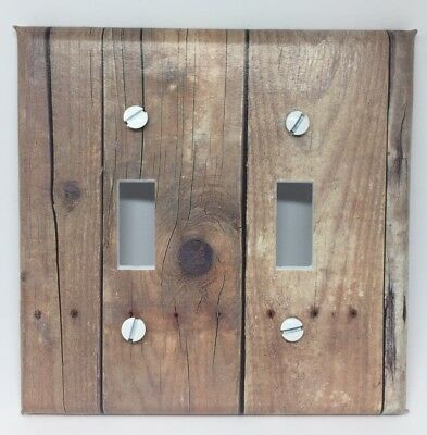 Barnwood Planks Light Switch Cover Plates Wood Looking Country Decor Vintage