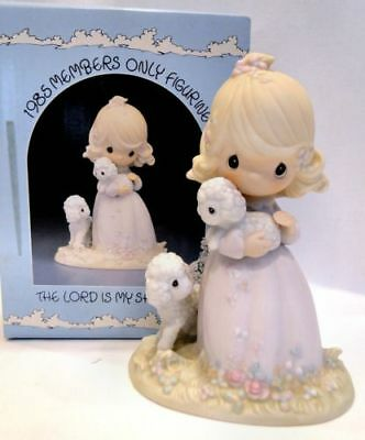 """Precious Moments, """"The Lord Is My Shepherd"""" -1985 Figurine - PM-851 Dove Mark"""