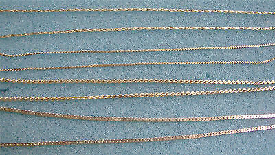 "Lot Jewelry - 4 Gold Tone Chain Necklaces - 15"", 16"", 17"", 18"""