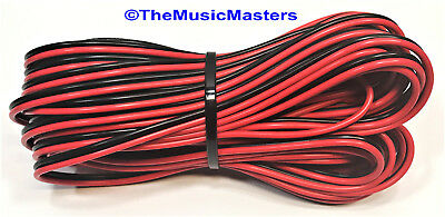 18 Gauge 30/' ft SPEAKER WIRE Red Black Cable Car Audio Home Stereo 12V DC Power