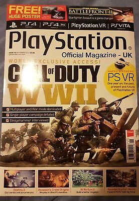 PLAYSTATION OFFICIAL MAGAZINE UK - ISSUE 141  2017 With free Huge Posters.