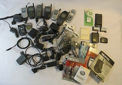 Lot of Old Vintage Cell Phones Motorola Nextel Parts
