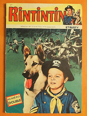 RINTINTIN et Rusty. Le dieu soleil Sagédition N° double 75/76. Rin Tin Tin- 1976