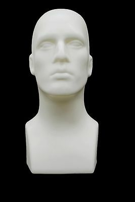 Abstract Male mannequin Head Light weight Style Display Head #PS-M-WH