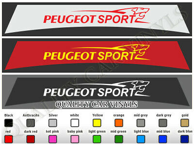 Peugeot Sport 106 205 206 207 208 307 308 Sunstrips Graphic Decal Stickers Su118