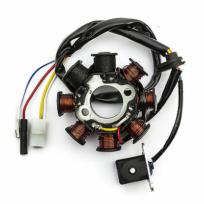50cc Baotian Stator Generator Magneto This Part Creates The Spark For The Coil