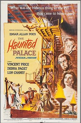 The Haunted Palace Vincent Price (American International,1963) Vintage Poster !!