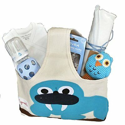 Organic Baby Gift Basket - Baby Gift for Boy Blue NB-3 Months