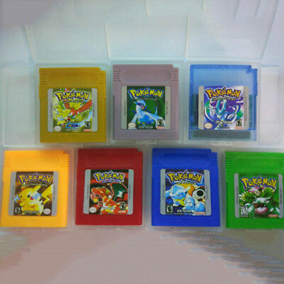7 Types New Game Cards For Nintendo Pokemon GBC Game Boy Color Version Best