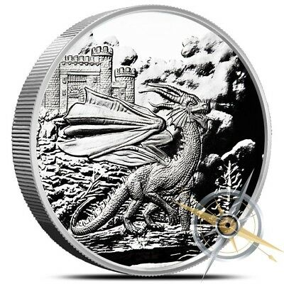 Celtic Lore Series - The Red Dragon 5 oz .999 Silver Proof Round Bullion Coin