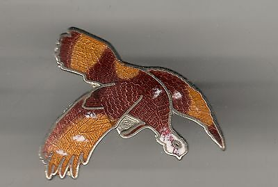 Vintage Flying Wild Turkey old cloisonne pin
