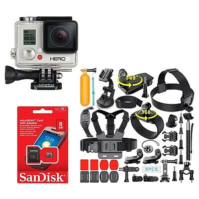 GoPro HERO3 WHITE Edition Action Camera CHDHE-301 With lots of 35+ Accessories!